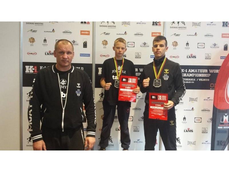 """Pasaulio čempionatas WAK-K1F, kuriame dalyvavo """"Žvėris gym"""" komanda: Arnestas Gusevas (1 vieta), Deividas Jemeljanovas (3 vieta)."""