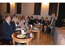 Pasveikinti mokytojų su profesine švente atėjo Palangos meras Š. Vaitkus ir švietimo ir mokslo viceministrė G. Krasauskienė.