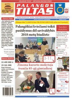 Palangos tilto laikraštis, Data: 2018-01-25, Numeris: 4(1629)