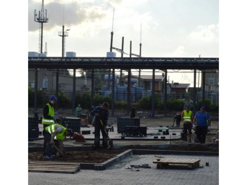 Statomoje naujojoje autobusų stotyje jau vyksta baigiamieji darbai