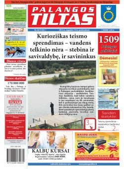 Palangos tilto laikraštis, Data: 2012-08-09, Numeris: 60 (1103)