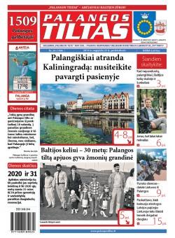 Palangos tilto laikraštis, Data: 2019-08-23, Numeris: 33 (1708)