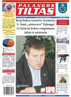 Palangos tilto laikraštis, Data: 2013-02-28, Numeris: 17 (1158)