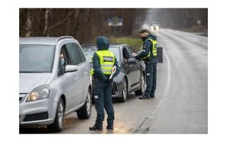 Pirmadienį policija mažiau tikrino įvažiuojančiuosius į Palangą