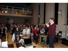 Pagrindinis renginio organizatorius A. Sendrauskas pristatė pirmąjį projekto renginį.