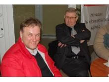 Draugystės metais (iš kairės – Viktoras Gecas ir Voldemaras Kesminas).