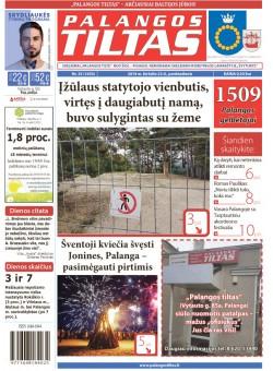 Palangos tilto laikraštis, Data: 2018-06-21, Numeris: 25(1650)