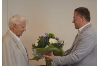 Palangos miesto garbės piliečiai Vitalius Bernardas Litvaitis ir Romualdas Budrys  pasveikinti gimimo dienos proga