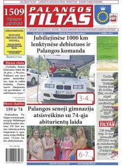Palangos tilto laikraštis, Data: 2014-07-14, Numeris: 52(1290)