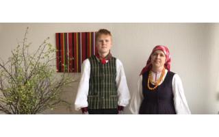 """Palangos moksleivių klubo vaikų folkloro ansamblis """"Kikilis"""" duetas nugalėjo respublikiniame festivalyje """"Grįžulai"""" 2021"""