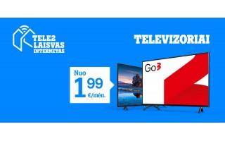 """""""Tele2"""" naujienos: puikūs pasiūlymai televizoriams, internetui ir naujiems telefonams"""