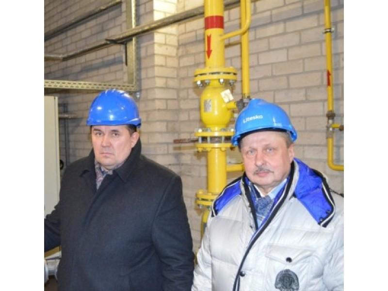"""Iš kairės: UAB """"Palangos šilumos tinklai"""" direktorius Artūras Mažrimas ir UAB """"Palangos šiluma"""" direktorius Rimantas Kregždė"""