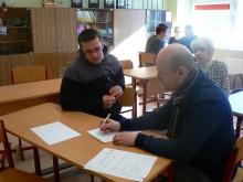 Konsultantas Olegas Čipickij kartu su dešimtoku Mindaugu Morkumi braižo karjeros planą.