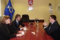 Meras Š. Vaitkus susitiko su susisiekimo viceministru A. Šliupu