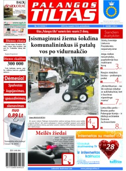 Palangos tilto laikraštis, Data: 2012-02-13, Numeris: 13 (1056)