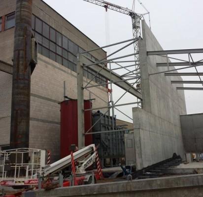 Baigiamos biokuro katilinės statybos