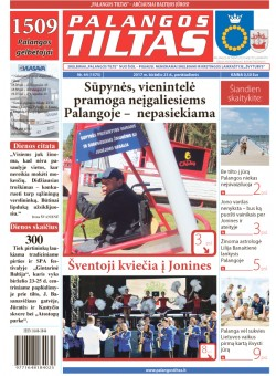 Palangos tilto laikraštis, Data: 2017-06-22, Numeris: 44(1475)