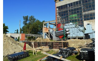 Palangoje sparčiai vyksta biokuro katilinės statybos darbai