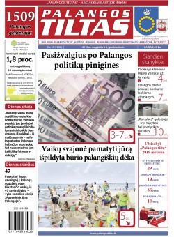 Palangos tilto laikraštis, Data: 2018-08-02, Numeris: 31(1656)
