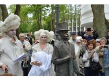 Teatralizuotas Grafų Tiškevičių alėjos atidarymas.