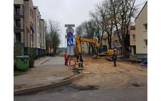 Mieste intensyviai vyksta gatvių tvarkymo darbai – taps patogiau ir vairuotojams ir pėstiesiems