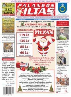 Palangos tilto laikraštis, Data: 2013-12-12, Numeris: 94 (1235)