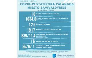 Antradienį Palangoje užfiksuota 18 naujų COVID-19 atvejų, 125 miestelėnai serga