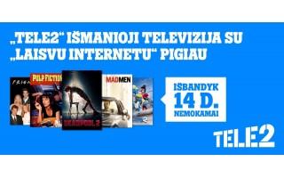 """Pramogoms ir laisvalaikiui: nauji išmaniosios """"Tele2"""" televizijos pasiūlymai"""