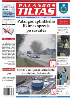 Palangos tilto laikraštis, Data: 2012-11-19, Numeris: 88 (1131)