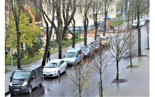 Informacija vairuotojams: penktadienį, šeštadienį ir pirmadienį bus asfaltuojama Vytauto gatvė - nestatykite savo automobilių