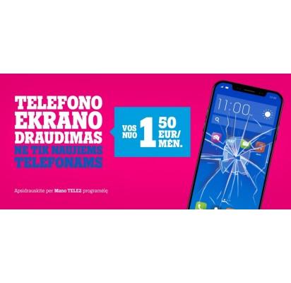Telefono ekrano draudimas: vos per kelias minutes ir tik nuo 1,50 Eur/mėn