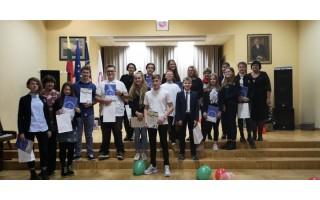 """Skaitovų konkursas """"Kalėdiniai skaitymai"""" Palangos Vlado Jurgučio pagrindinėje mokykloje"""