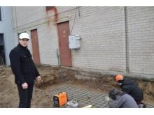 """""""Irdaiva"""" betonavimo darbų vadovas, Egidijus Daukšys: """"Šią savaitę atliekami   betonavimo darbai."""""""