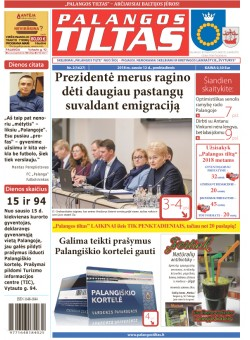 Palangos tilto laikraštis, Data: 2018-01-11, Numeris: 2(1627)