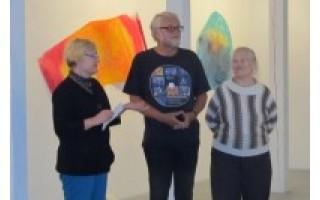 "Spalvomis ir džiaugsmu alsuojanti A. Hjuler paroda ""Artlightz 2013"""