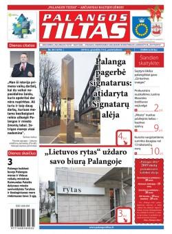 Palangos tilto laikraštis, Data: 2018-12-14, Numeris: 49 (1674)