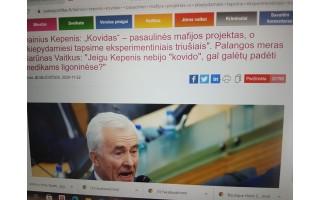 """Stulbinantis pasiekimas: straipsnį apie Dainių Kepenį ir jo požiūrį į """"kovidą"""" Facebook/Palangostiltas ir www.palangostiltas.lt peržiūrėjo atitinkamai 30 050 ir 20 688 žmonių"""