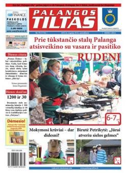 Palangos tilto laikraštis, Data: 2012-09-24, Numeris: 73 (1116)