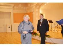 Apdovanojimą gavo Šventosios seniūnijos bendruomenės pirmininkė Irena Galdikienė.