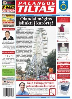 Palangos tilto laikraštis, Data: 2012-05-17, Numeris: 37 (1080)