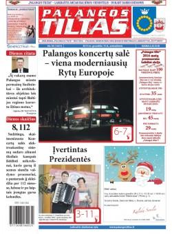 Palangos tilto laikraštis, Data: 2015-12-14, Numeris: 95(1431)