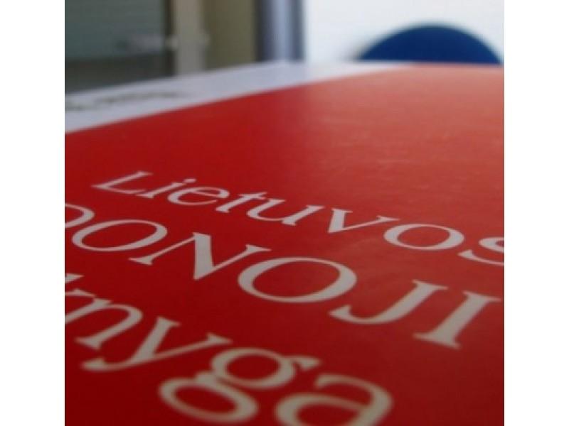 Lietuviai turi būti įrašyti į Lietuvos Raudonąją knygą?