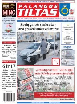 Palangos tilto laikraštis, Data: 2014-12-04, Numeris: 92(1330)