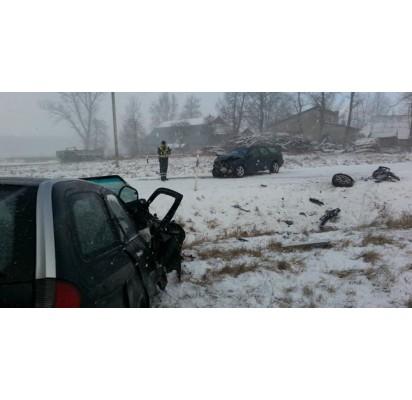 Netoli Palangos įvykusioje avarijoje nukentėjo šeši žmonės. Reidas.tv nuotr.