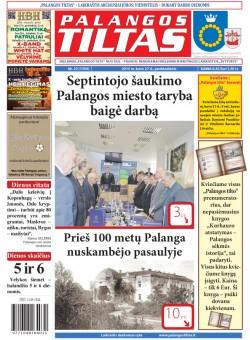 Palangos tilto laikraštis, Data: 2015-03-26, Numeris: 23(1359)