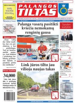 Palangos tilto laikraštis, Data: 2016-05-19, Numeris: 37(1471)