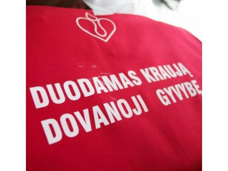 Vasario 8 d. Palangoje – kraujo donorystės akcija