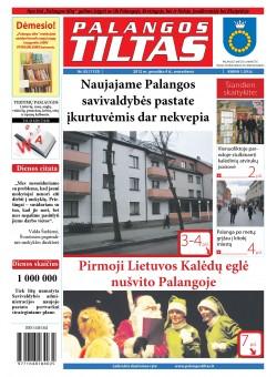 Palangos tilto laikraštis, Data: 2012-12-03, Numeris: 92 (1135)