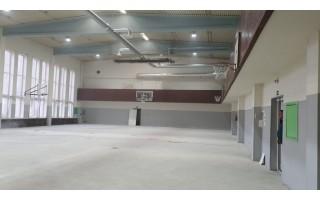 Renovuojama sporto salė Ganyklų gatvėje