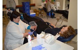 Savivaldybėje  kraujo donorystės akcija pranoko organizatorių lūkesčius